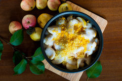 Preparing for cooking apple jam in multivarka Royalty Free Stock Image