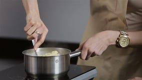 Preparing cream eclairs stock video