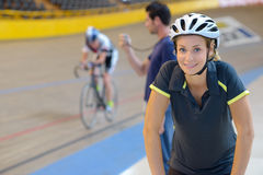 Preparing for cycling competition Stock Images