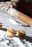Preparing delicious cakes Royalty Free Stock Photos