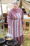 Civil war lady preparing dinner Royalty Free Stock Photo