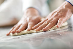 Preparing dough Royalty Free Stock Photography