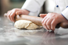 Preparing dough Royalty Free Stock Photo