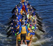 Preparing for the 2016 Dragon Boat Festival Royalty Free Stock Images