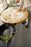 Preparing dumplings dim sum Royalty Free Stock Image