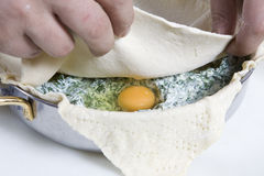 Preparing Easter pie. Stock Photo