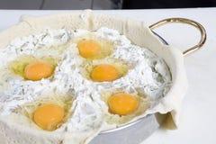 Preparing Easter pie. Royalty Free Stock Image