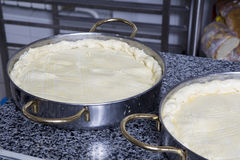 Preparing easter pie Royalty Free Stock Photo