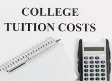 Preparing for Education Costs Stock Photography