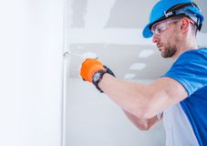 Preparing Electric Installation Stock Image