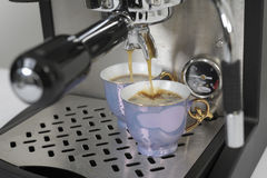 Preparing an expresso Royalty Free Stock Image