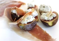 Preparing figs snack Royalty Free Stock Photos
