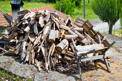 Preparing of firewood Royalty Free Stock Photos