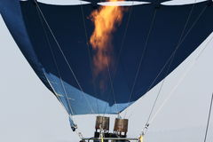 Preparing for flight. Hot-air ballon preparing for flight Stock Images
