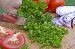 Preparing food Stock Images