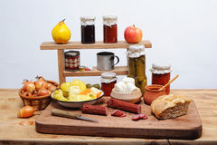 Preparing food for eating Royalty Free Stock Images