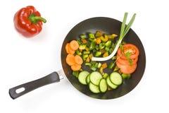 Preparing food, fresh vegetables Stock Images