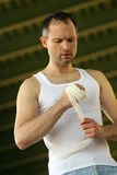 Preparing For The Fight Stock Photography