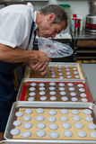 Preparing french macaroons Stock Photography