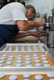 Preparing french macaroons Stock Image