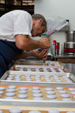 Preparing french macaroons Royalty Free Stock Images