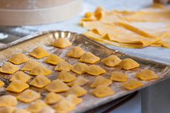 Preparing fresh pasta Stock Photography