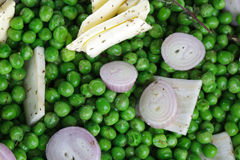 Preparing fresh Peas Stock Photos