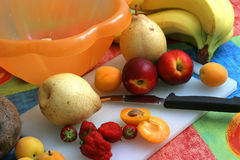 Preparing Fruit Salad I Royalty Free Stock Image