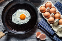 Preparing for frying eggs Royalty Free Stock Photos