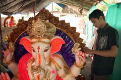 Preparing for Ganesh Festival Stock Photography