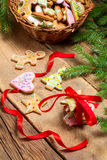 Preparing gingerbread cookies as a gift Stock Photos