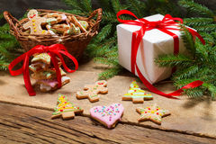 Preparing gingerbread cookies as a gift Stock Photo