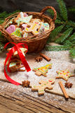 Preparing gingerbread cookies for Christmas Royalty Free Stock Photo