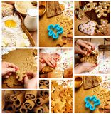 Preparing Gingerbread Cookies Stock Photography