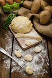 Preparing gnocchi Stock Photography