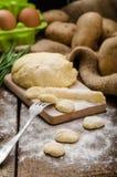 Preparing gnocchi Royalty Free Stock Image