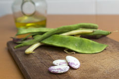 Preparing green beans for cooking Stock Photography
