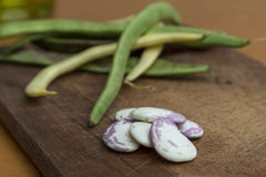 Preparing green beans for cooking Royalty Free Stock Photo
