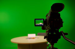 Preparing for a greenscreen royalty free stock photography