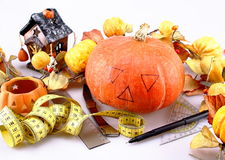 Preparing for Halloween Stock Photo