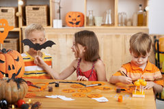 Preparing for Halloween Stock Photos