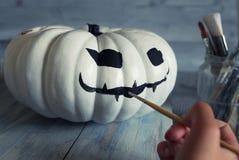 Preparing halloween decorations Stock Image