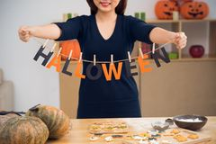 Preparing for Halloween Stock Image