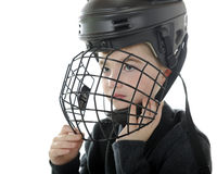 Preparing for Hockey Stock Image