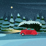 Preparing for the holiday on Christmas Eve stock illustration