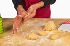 Preparing biscuits Royalty Free Stock Image