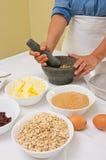 Preparing homemade cookies Royalty Free Stock Images