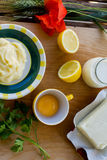 Preparing homemade margarine Royalty Free Stock Photography
