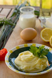 Preparing homemade margarine Royalty Free Stock Image