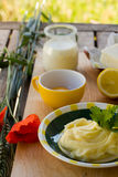 Preparing homemade margarine Stock Photography